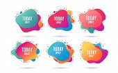 Today Only Sale Symbol. Special Offer Sign. Best Price. Abstract Dynamic Shapes With Icons. Gradient poster