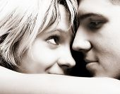 image of loving_couple  - Happy young couple in love - JPG