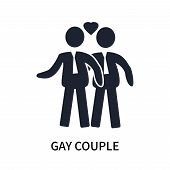 Gay Couple Icon Isolated On White Background. Gay Couple Icon Simple Sign. Gay Couple Icon Trendy An poster