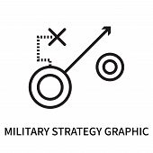 Military Strategy Graphic Icon Isolated On White Background. Military Strategy Graphic Icon Simple S poster