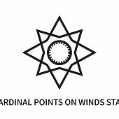 Cardinal Points On Winds Star Icon Isolated On White Background. Cardinal Points On Winds Star Icon  poster