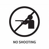 No Shooting Icon Isolated On White Background. No Shooting Icon Simple Sign. No Shooting Icon Trendy poster