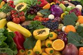 pic of vegetable food fruit  - Organic healthy vegetables and fruits - JPG