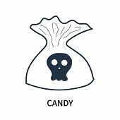 Candy Icon Isolated On White Background. Candy Icon Simple Sign. Candy Icon Trendy And Modern Symbol poster