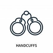 Handcuffs Icon Isolated On White Background. Handcuffs Icon Simple Sign. Handcuffs Icon Trendy And M poster