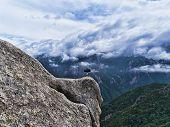 Phone On A Treepod On Hight Mountain Peak. Seoraksan National Park. South Korea poster