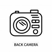 Back Camera Icon Isolated On White Background. Back Camera Icon Simple Sign. Back Camera Icon Trendy poster