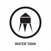 Water Tank Icon Isolated On White Background. Water Tank Icon Simple Sign. Water Tank Icon Trendy An poster