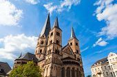 stock photo of bonnes  - The Bonn Minster one of Germany - JPG