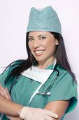 Smiling Healthcare Professional poster