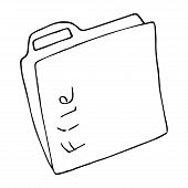 Folder For Files Icon. Vector Illustration Folder For Documents. Hand Drawn Folder With Files, Docum poster