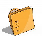Folder Document Symbol. Vector Folder File. Hand Drawn Folder Icon. poster