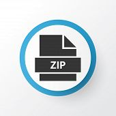 Zip Icon Symbol. Premium Quality Isolated Archive Element In Trendy Style. poster