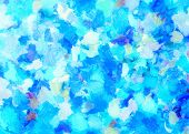 Turquoise Abstract For Background And Texture, Blue Abstract. Oil Painting On Canvas.brush Strokes W poster