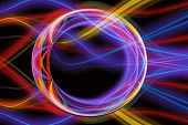 Artistic Abstract Multicolored Energized Loops Circles Artwork poster