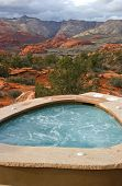 Colorful Outdoor Jacuzzi In Southern Utah poster