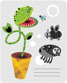 Cute plant monsters and insects.