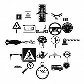 Movement Icons Set. Simple Set Of 25 Movement Vector Icons For Web Isolated On White Background poster