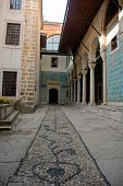 pic of eunuch  - Courtyard of the Eunuchs in the Harem of Topkapi Palace in Istanbul Turkey - JPG
