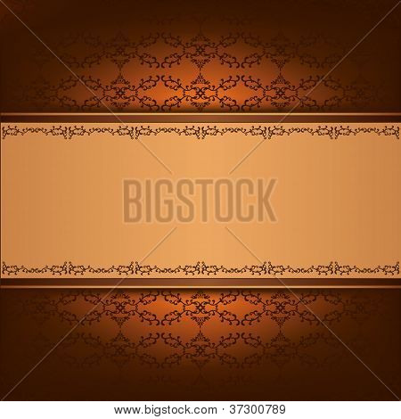 Vintage Background With Decorative Ornament