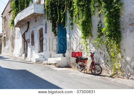 Street In Greece. Crete.