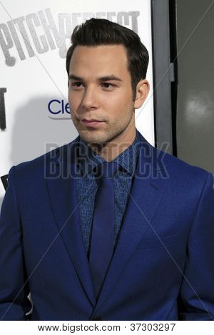 "LOS ANGELES - SEP 24:  Skylar Astin arrives at the ""Pitch Perfect'"" Premiere at ArcLight Cinemas on September 24, 2012 in Los Angeles, CA"