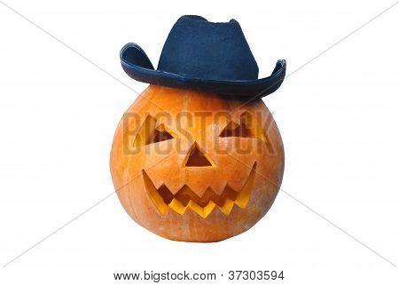 Cowboy pumpkin