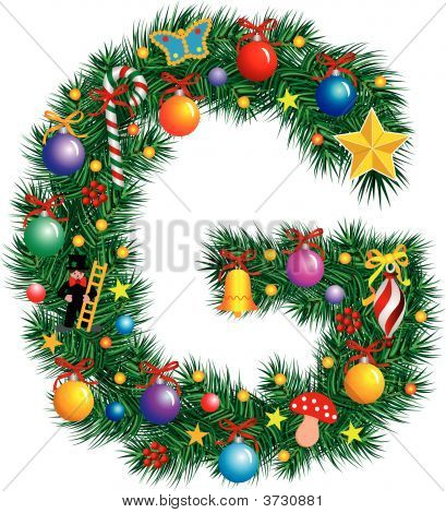 Alphabet Letter G - Christmas Decoration