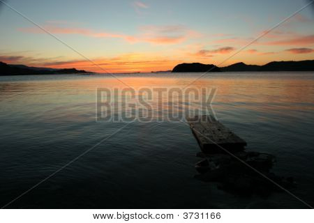 Small Wooden Moorage On The Baikal