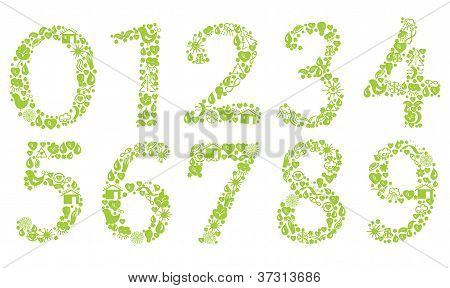 Ecological numbers set with symbols