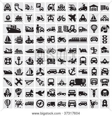 big transportation icons