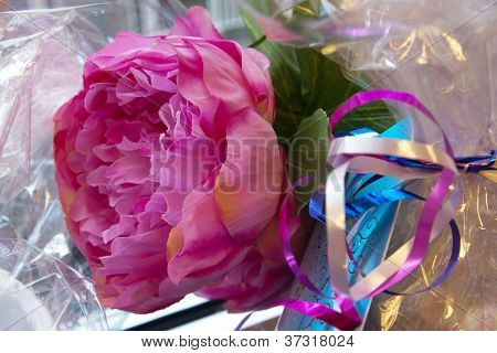 Peony Rose giftwrapped