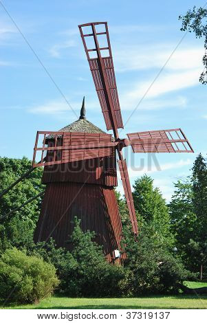 Small Wooden Windmill