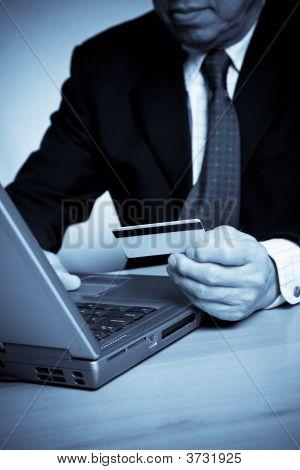 Senior Businessman Shopping Online