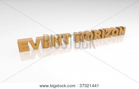 three dimensional text on a white back ground - event horizon