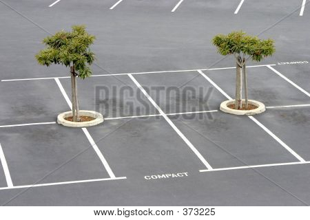 Empty Parking Lot.