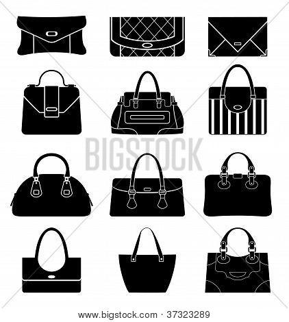 Black Icons Female Bags