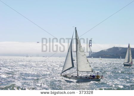 Sailboat And The Golden Gate