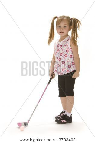 Little Golfer Girl
