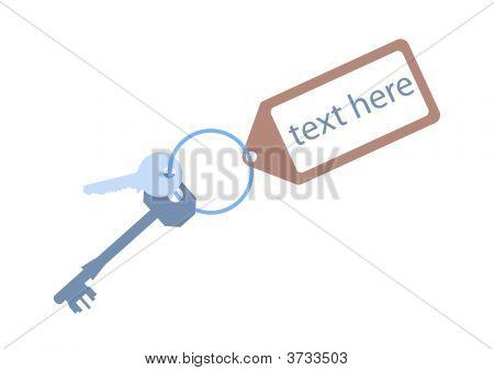Door Keys With  Key Tag