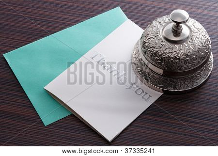 thank you card on with service bell