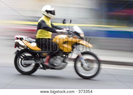 Speeding Motorcycle 1