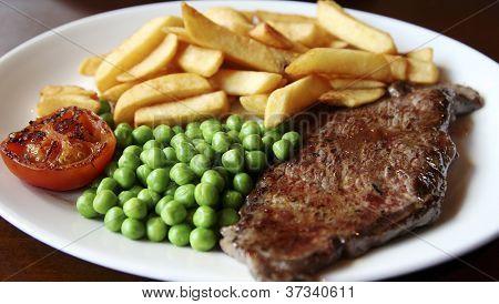 Close-up Of Juicy Beef Steak