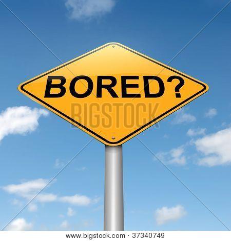 langweilig-Konzept.