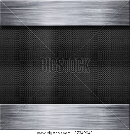 Carbon fiber texture and aluminum metal plate background