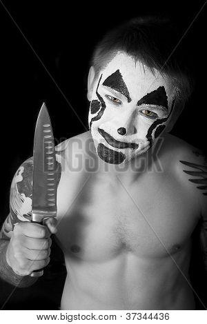 Evil Clown With A Knife
