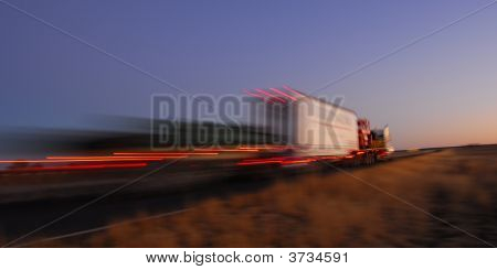 Fast Truck In Motion