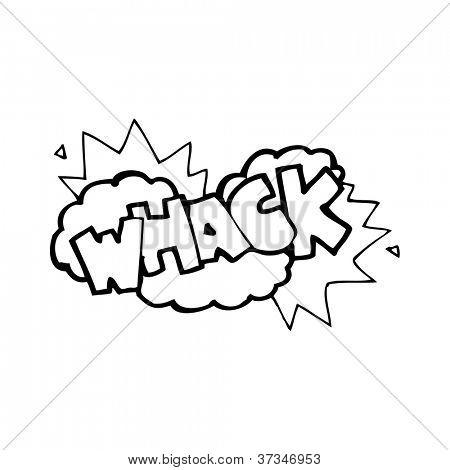comic book whack símbolo