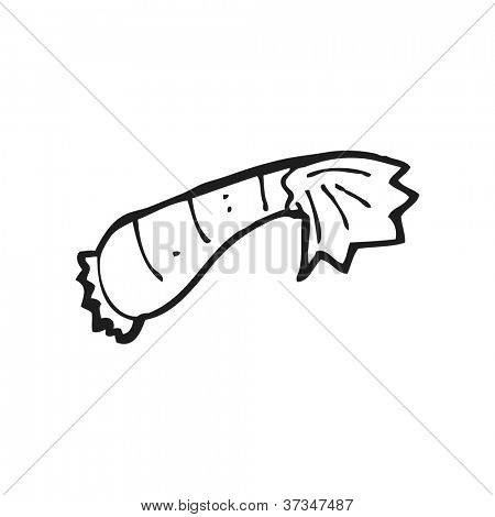 cartoon shrimp tail