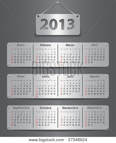 Calendar For 2013 In Spanish